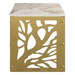 Side Table Tongfu | White / Gold