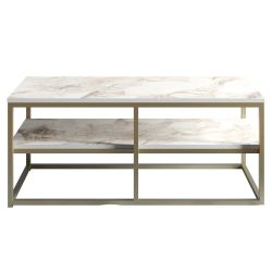 Table d'Appoint Forteaus | Or / Blanc