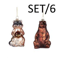 6er-Set Hirsch/Kaninchenkopf 10,5 cm