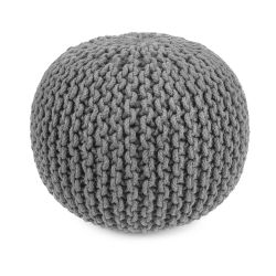 Round Pouf | Light Grey
