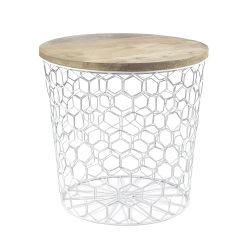 Side Table Mesh | White