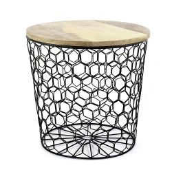 Table d'Appoint Mesh | Noir