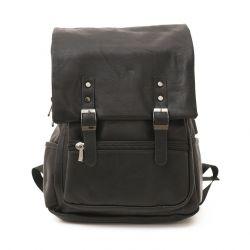 Rucksack mit eingebautem USB-Ladegerät I | Schwarz