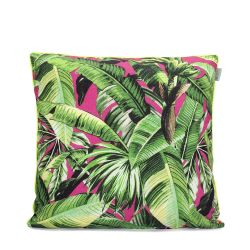 Cushion Cover Pink Palm  | 100% Cotton
