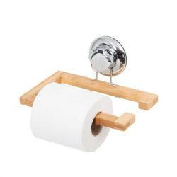 Toilet Roll Holder with Suction Cup | Bamboo