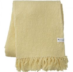 Handtuch Waffly 100 x 170 cm | Zitrone