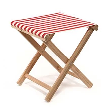 Tabouret de Plage | Rouge / Naturel
