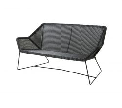 Outdoor 2-zit Sofa Breeze | Zwart