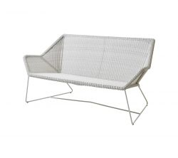Outdoor 2 seater Sofa Breeze | White Grey