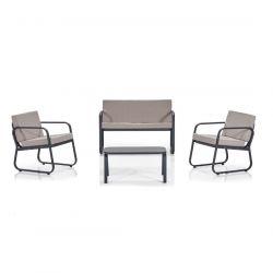 Garten-Lounge-Set | Beige - Grau