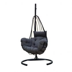 Outdoor Single Swing Chair | Anthracite Grey