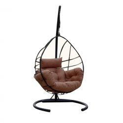 Outdoor Single Swing Chair | Anthracite Cream