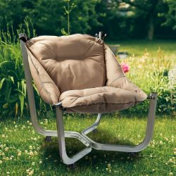 Outdoor Wing Chair | Brown
