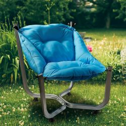 Outdoor Wing Chair | Blue