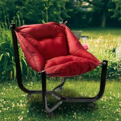 Outdoor Wing Chair | Claret Red