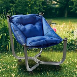 Outdoor Wing Chair | Dark Blue