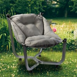 Outdoor Wing Chair | Grey