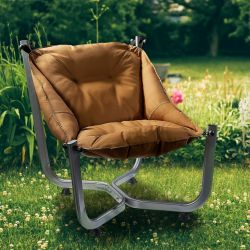Outdoor Wing Chair | Dark Brown