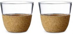 Cortica Set of 2 Tea Glasses | Cork