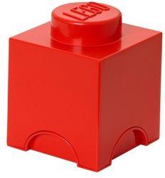Boîte à Organiser Brick 1 Lego Carré | Rouge