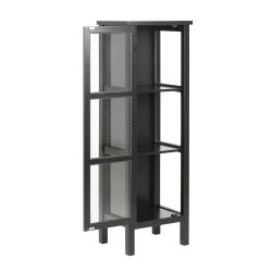 Glass Cabinet Eton H 136.5 cm | Black