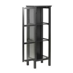 Glasschrank Eton H 136,5 cm | Schwarz