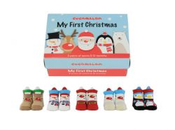 Babysocken 5 Paar | My First Christmas