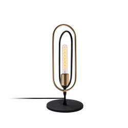 Lampe de Table Cerco | Noir/Or