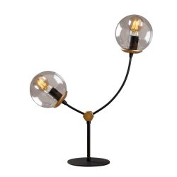 Lampe de Table Kromozom | Noir/Transparent