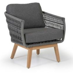 Kenton Arm Chair w Cushion | Grey