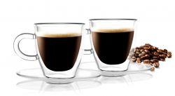 Verre Double Paroi Espresso avec Sous-tasses 50 ml | Set de 2