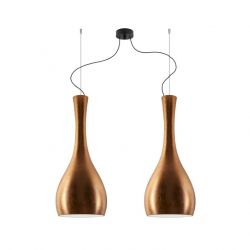Pendant Lamp Itteki 2/S | Copper Leaves / Black