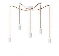 Pendant Light Cero S_5 | White + Orange
