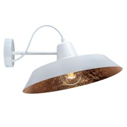 Wall Lamp CINCO 1_W | White / Copper