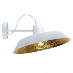 Lampe Murale CINCO 1_W | Blanc / Or Imitation