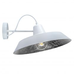 Wall Lamp CINCO 1_W | White / Silver