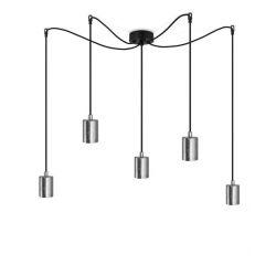 Pendant Lamp CERO BASIC 5_S | Silver & Black