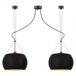 Pendant Lamp Momo  2_S | Matt Black/Gold