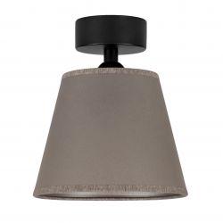 Ceiling Lamp Iro 1 CP | Black/Taupe