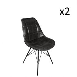 Staten Chaise Set de 2 | Noir