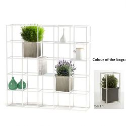 Modular Planting System 5 x 5 White + 2 Dark Grey Bags