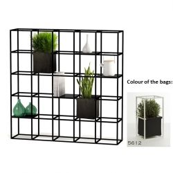 Modular Planting System 5 x 5 Black + 2 Anthracite Bags