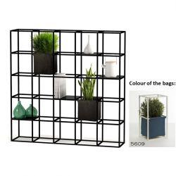 Modulair Plantensysteem 5 x 5 Zwart + 2 Blauwe Zakken