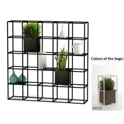 Modular Planting System 5 x 5 Black + 2 Brown Bags