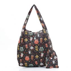 Shopping Bag | Owls | Black