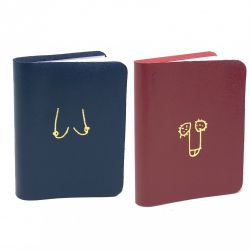 Notebook Willy & Boob Set of 2 | Red & Blue