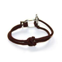 Shackle Bracelet | True Lovers' Knot | Brown