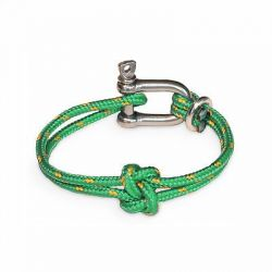 Shackle Bracelet | True Lovers' Knot | Green