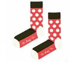 Unisex Socks | Half Huge Dots Red