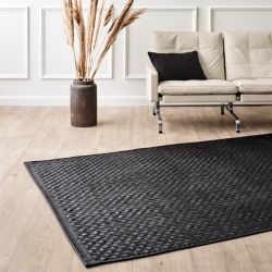 Calfskin Leather Rug Tuscany | Matte Black